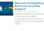 (Bolivia cayó en la volteada)