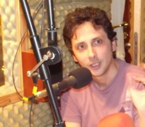 Adrián Desiderato en BSM Radio, defendiendo la abolición de la ley del offside