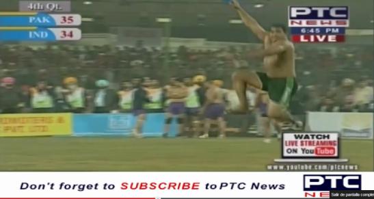 Ahmed Shafiq Chisti, el espectacular raider pakistaní, en pleno festejo cuando parecía que serían los campeones.