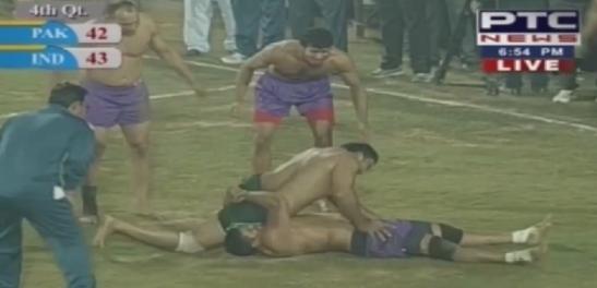 El punto del stopper indio que sentenció el partido.