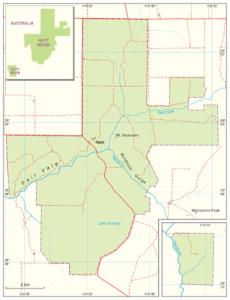 La geografía de Hutt River.