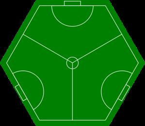 cancha de futbol para tres