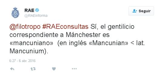 """Sí, el gentilicio de Manchester es """"mancuniano"""""""