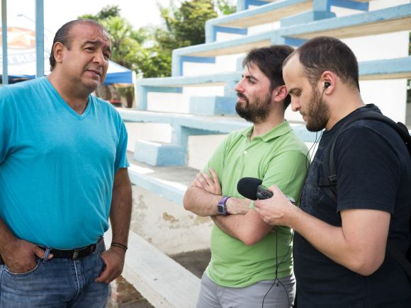 Godínez y Fisher entrevistando a López Verduzco