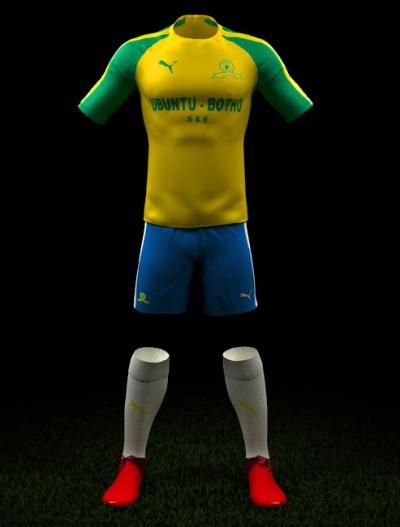 "Vestimenta oficial de ""los brasileños"" Mamelodi Sundowns 2016-2017"